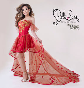 Quinceañera Dress Style 1802 Red - bella-sera-dresses.com