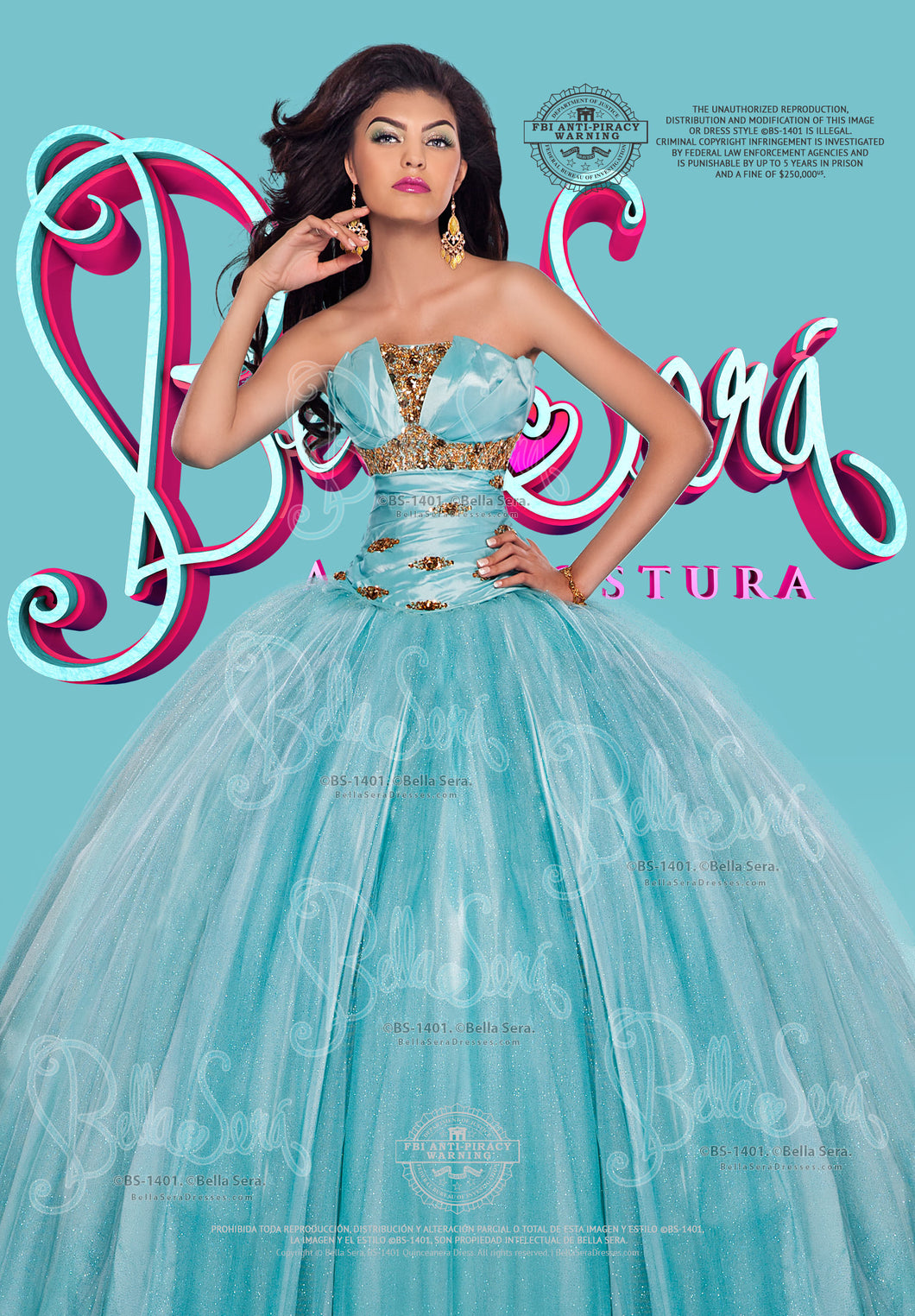 Quinceañera Dress Style BS-1401B - bella-sera-dresses.com