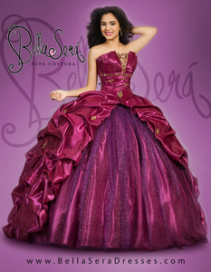 QUINCEANERA DRESS BS - Style 1401D - bella-sera-dresses.com