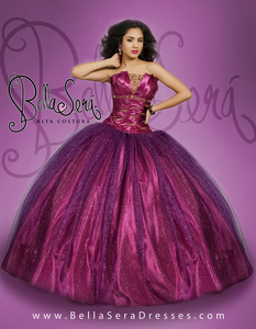 Quinceañera Dress Style BS-1401D - bella-sera-dresses.com