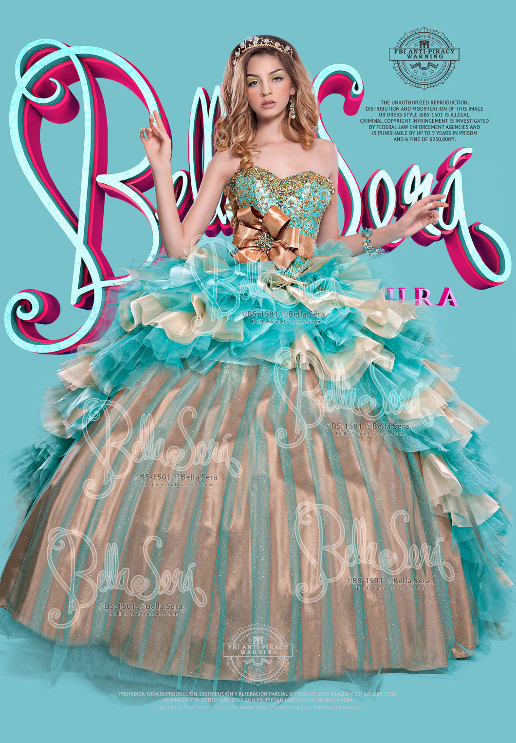 QUINCEANERA DRESS BS - Style 1501B - bella-sera-dresses.com