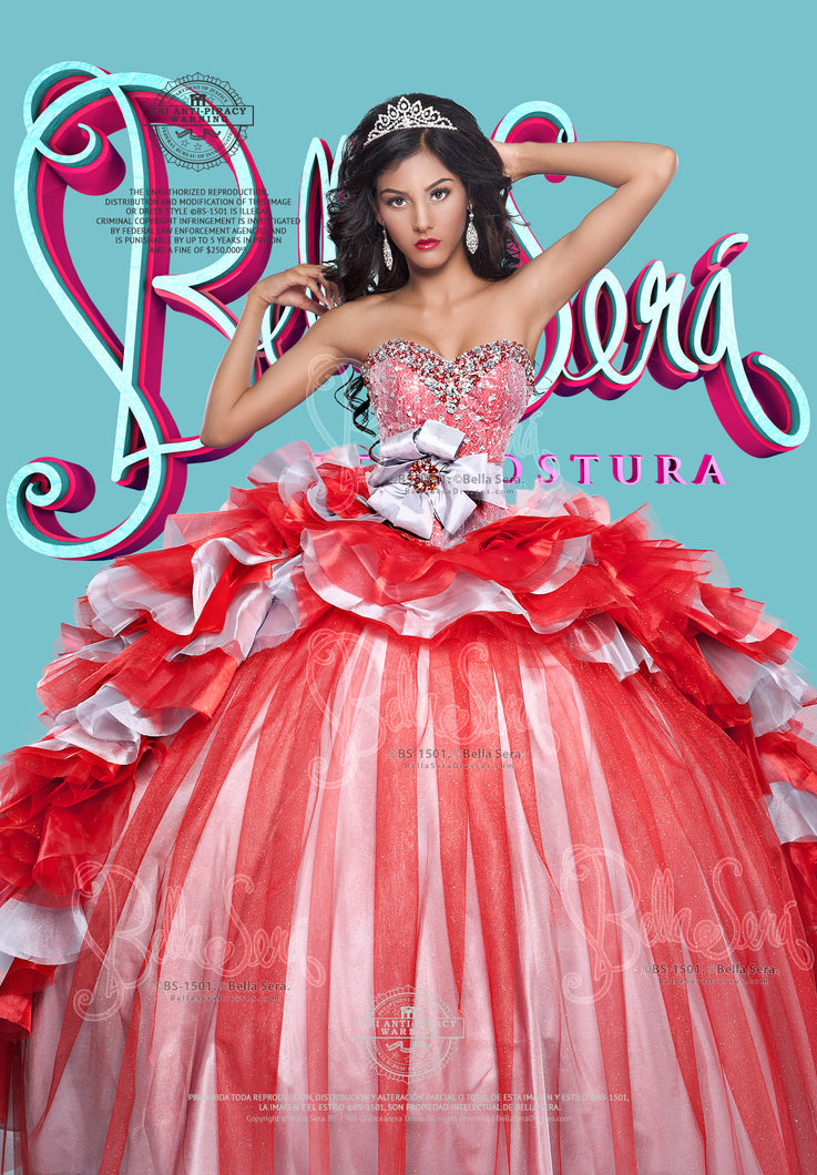 QUINCEANERA DRESS BS - Style 1501D - bella-sera-dresses.com