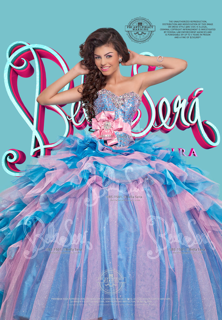 QUINCEANERA DRESS BS - Style 1501C - bella-sera-dresses.com