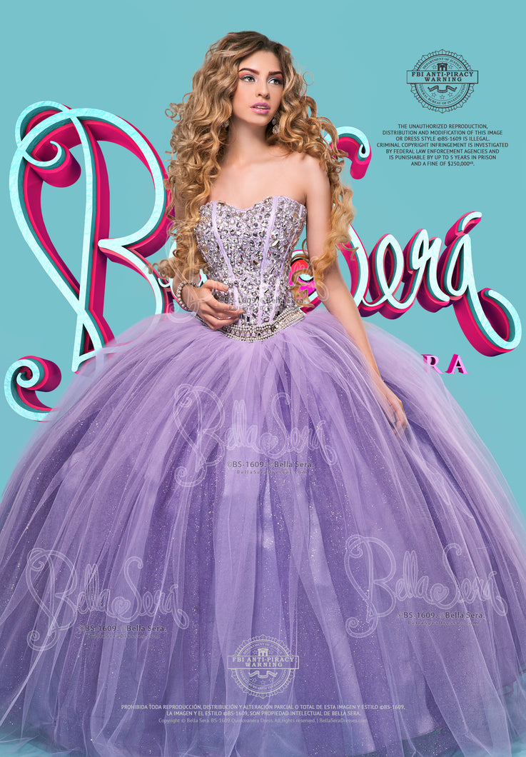 QUINCEANERA DRESS BS - Style 1609 - bella-sera-dresses.com