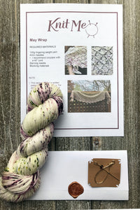 November Subscription box; yarn, knitted gift bag pattern, Paper Canoe gift cards