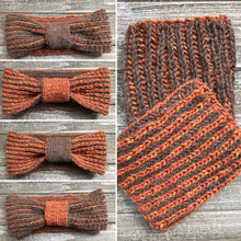 Load image into Gallery viewer, Brioche Headband and Boot Cuffs Pattern