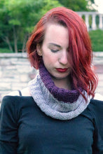 Load image into Gallery viewer, Kelsi modelling the Knit Me Cowl Kit
