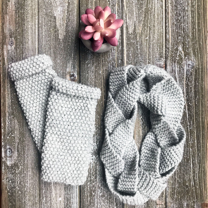 Braided Headband and Fingerless Gloves Set