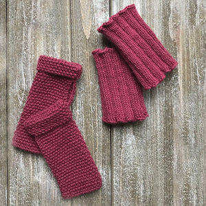 Fingerless Gloves and Boot Cuffs Set