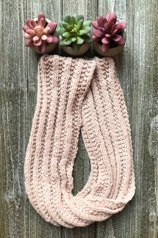 Bamboo Infinity Scarf knitting kit