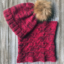 Load image into Gallery viewer, Criss Cross Hat and Cozy Cable Cowl Bundle