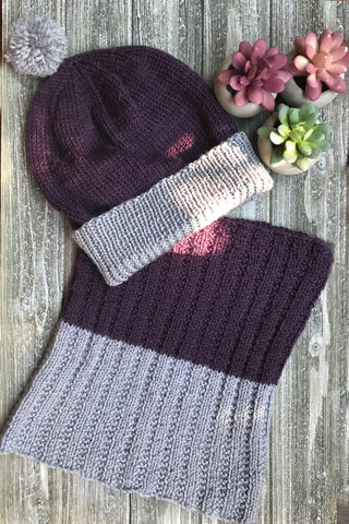 Knit Me Toque / Hat and Cowl Kit