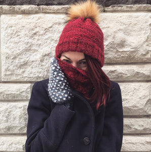 Criss Cross Hat and Cozy Cable Cowl Bundle