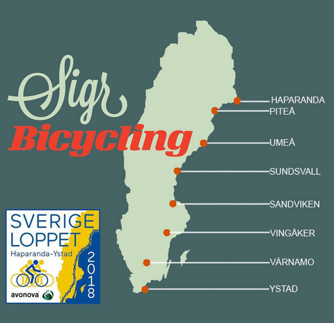 Sverigeloppet Sigr Sverigekarta cykling cycling bicycling Sigrnordic Tour de France