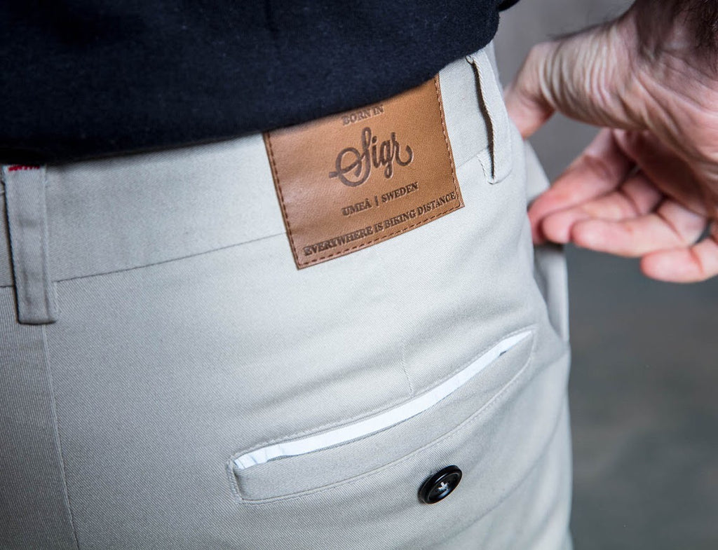 'Riksväg 99' Cycling Chinos for Men in Khaki