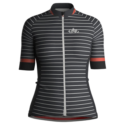 Sigr 'Black Horizon' (with Back Slogan) Cycling Jersey for Women