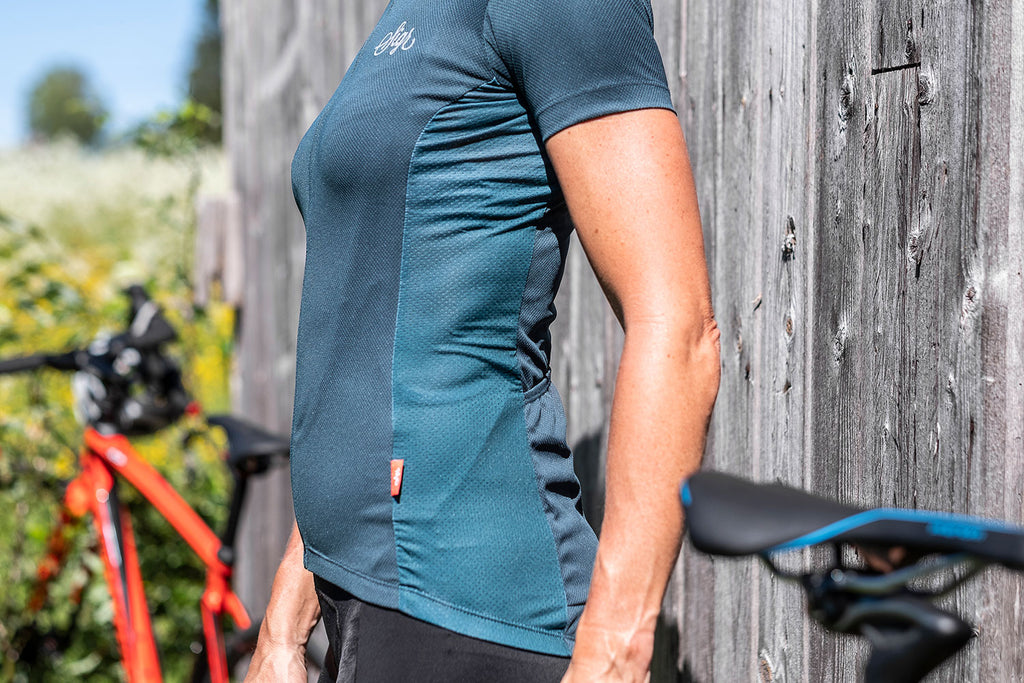 'Hyacint' Petrol Cycling Jersey for Women