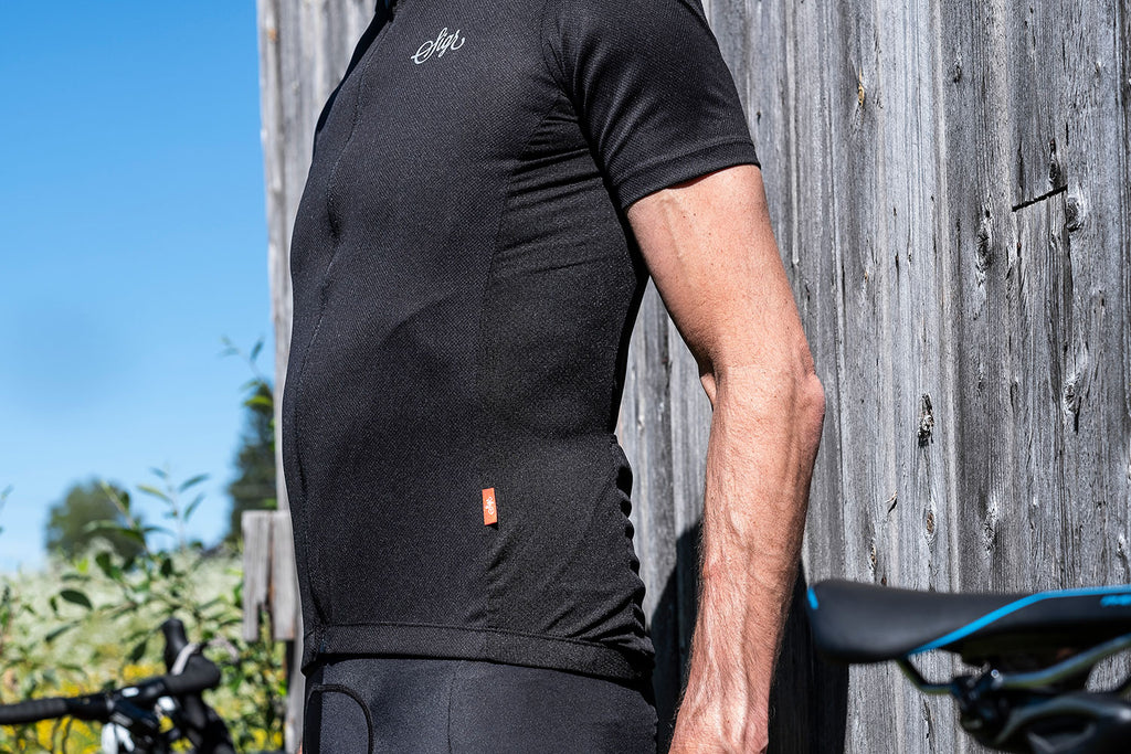 'Svartsenap' Black Cycling Jersey for Men