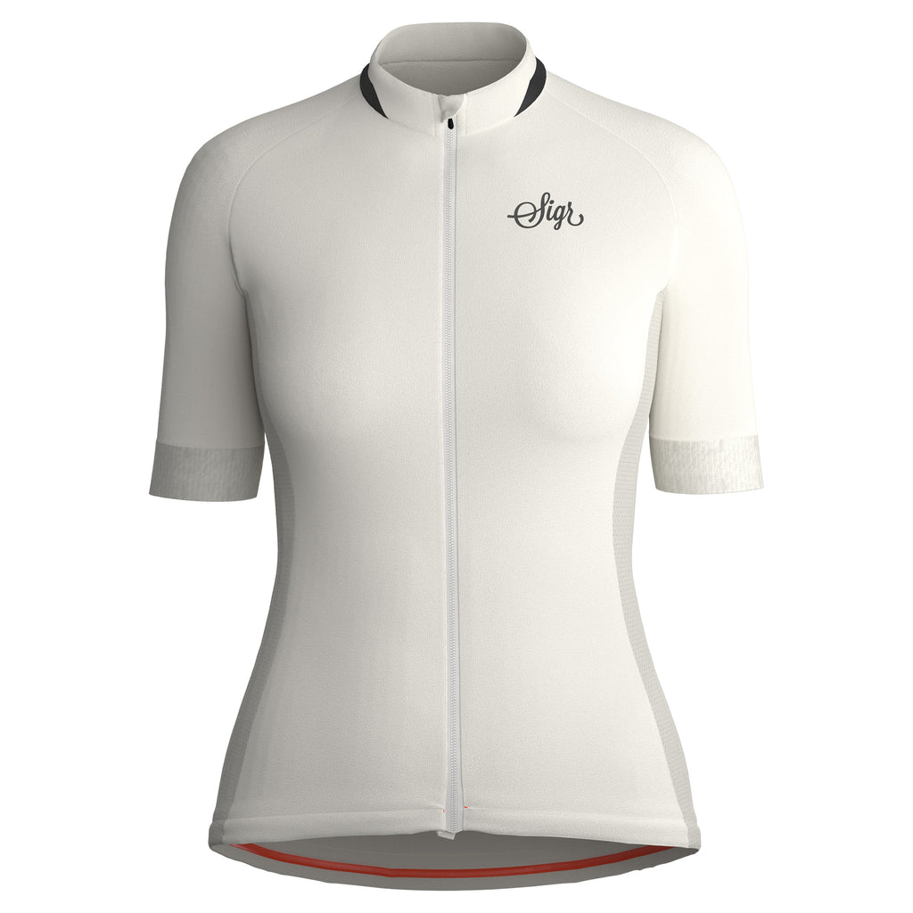Sigr 'Hägg' White Cycling Jersey for Women - PRO Series