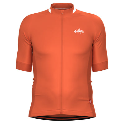 Sigr 'Havtorn Dawn' Orange Cycling Jersey for Men