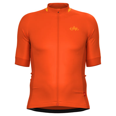 Sigr 'Havtorn Bright' Orange Cycling Jersey for Men