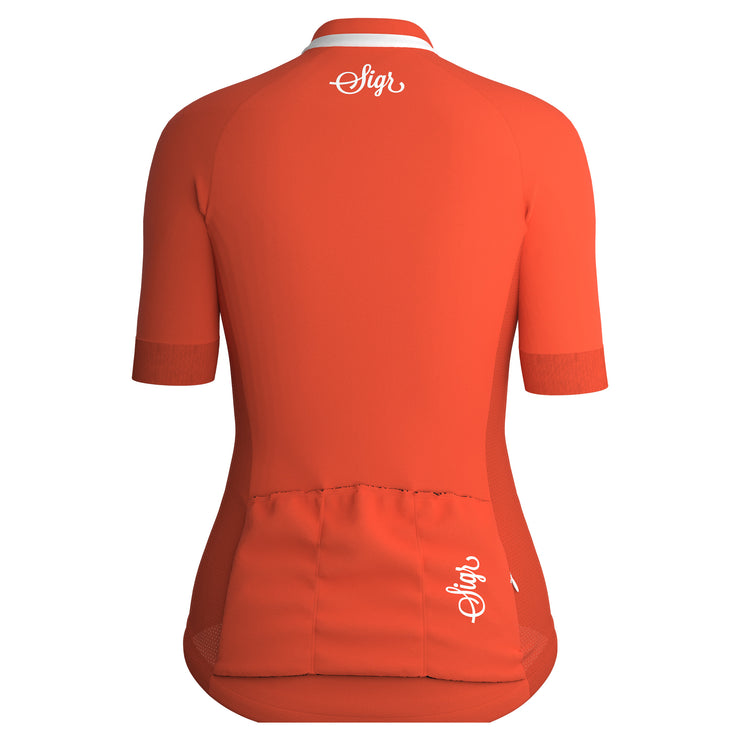 Sigr 'Havtorn Dawn' Orange Cycling Jersey for Women