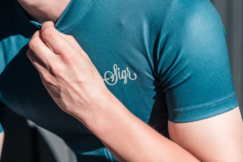'Hyacint' Petrol Cycling Jersey for Men