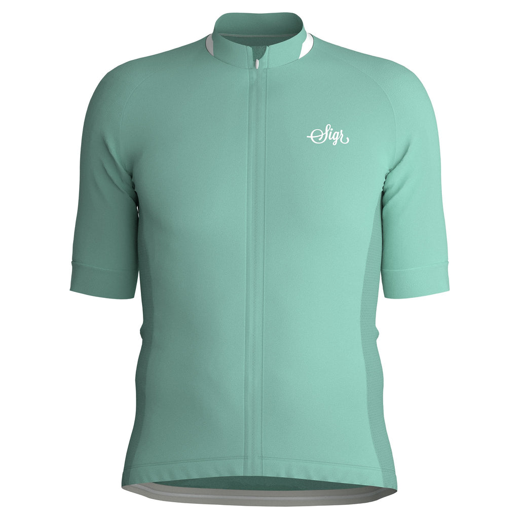 Sigr 'Bergvallmo' Ice-Mint Cycling Jersey for Men