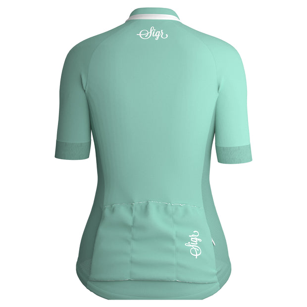 Sigr 'Bergvallmo' Ice-Mint Cycling Jersey for Women