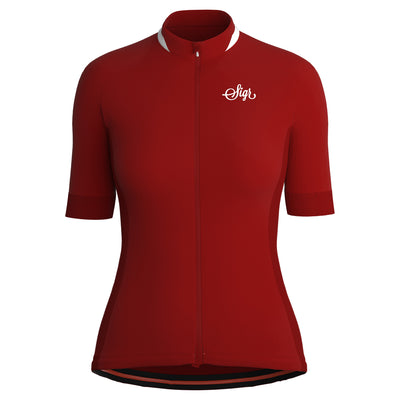 Sigr 'Nejlika' Red Cycling Jersey for Women