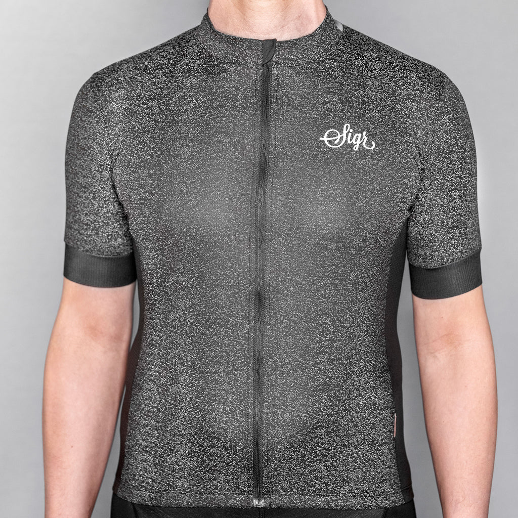 'Grus Norrsken' Reflective Cycling Jersey for Men - PRO Series