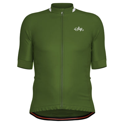 Sigr 'Vass' Green Cycling Jersey for Men