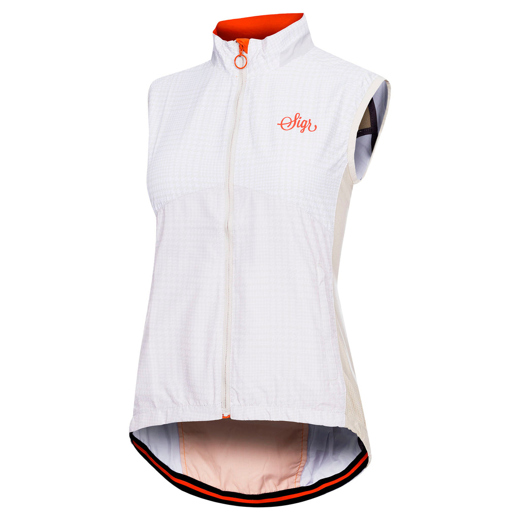 Sigr 'Vättern' White Cycling Pack Gilet for Women - PRO Series