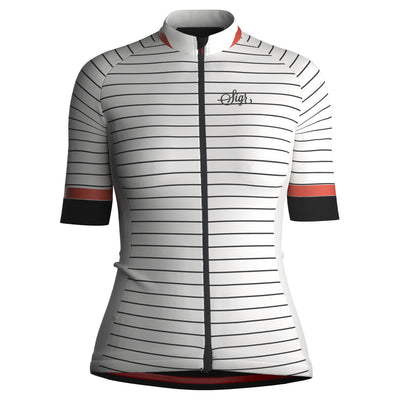 Sigr 'White Horizon' (with Back Slogan) Cycling Jersey for Women