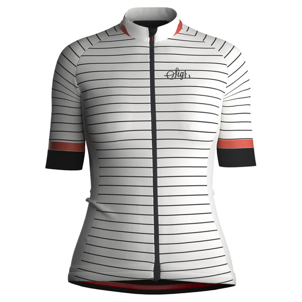 Sigr 'White Horizon' Cycling Jersey for Women