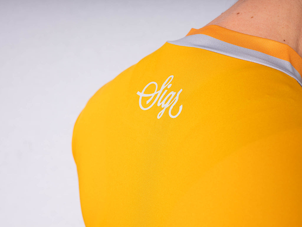 'Solros' Yellow Cycling Jersey for Men