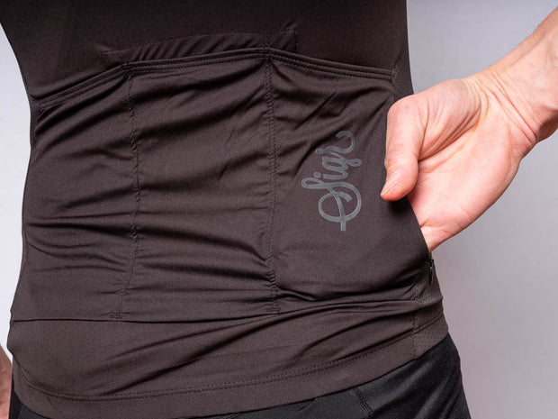 Sigr 'Svart Tulpan' Black Cycling Jersey for Men