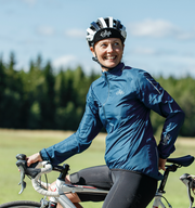 Sigr 'Treriksröset Blue' Cycling Pack Jacket for Women
