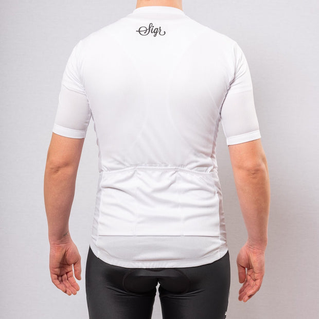 Sigr 'Syren' White Cycling Jersey for Men