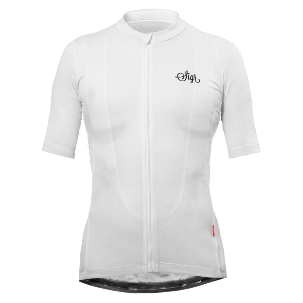 'Syren' White Cycling Jersey for Women