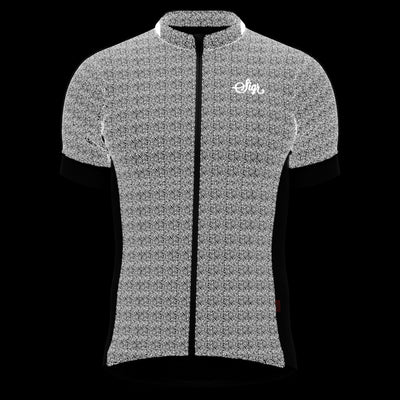 Sigr 'Grus Norrsken Black' Reflective Cycling Jersey for Men - PRO Series
