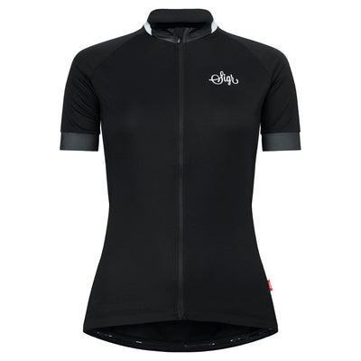 Sigr 'Svart Grus' Black Cycling Jersey for Women