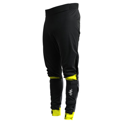 Sigr 'Östkusten' Biomotion Ultraviz Black/Yellow Cycling Rain Trousers for Men & Women