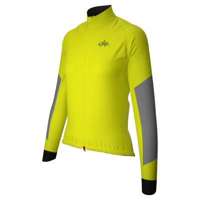 Sigr 'Östkusten' Ultraviz Yellow Road Cycling Rain Jacket for Women