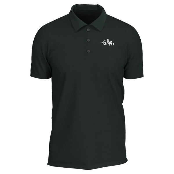 Sigr 'Pike' Dark Green Polo Shirt with Sigr Logo for Men