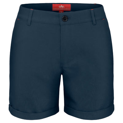 Sigr 'Strandvägen' Cycling Chino Shorts in Petrol Blue for Women