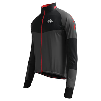 Sigr 'Västkusten' Black Road Cycling Rain Jacket for Men
