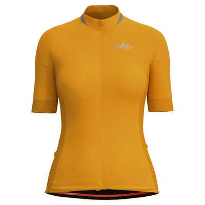 Sigr 'Solros' Yellow Cycling Jersey for Women