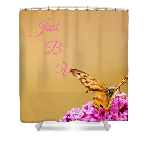 Just B U Logo - Shower Curtain