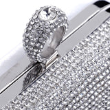 Finger Ring Diamond Clutch Mini Purse Bag With Chain